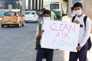 children against air pollution in India